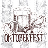 Oktoberfest vector illustration Royalty Free Stock Photos