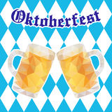 Oktoberfest vector illustration with two mugs of beer Stock Photo
