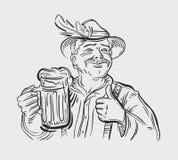 Oktoberfest vector logo design template. Beer, ale Stock Photos