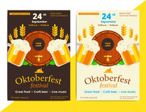 Oktoberfest vector poster background design. Octoberfest holiday Stock Photos