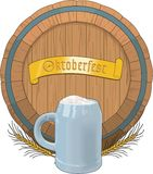 Oktoberfest Vektorillustration stock illustrationer