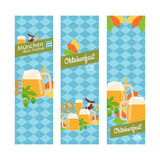 Oktoberfest 2016 vertical banners Royalty Free Stock Photography