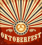 Oktoberfest vintage celebration poster design Stock Photography