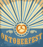Oktoberfest vintage celebration poster design Stock Photos