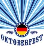 Oktoberfest vintage celebration poster design Royalty Free Stock Photos