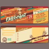Oktoberfest vintage invitation card. Vintage style Oktoberfest german beer festival invitation template vector Royalty Free Stock Image