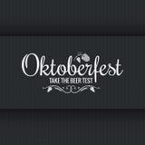 Oktoberfest vintage logo design background Stock Images
