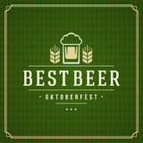 Oktoberfest vintage poster or greeting card Royalty Free Stock Images