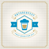 Oktoberfest vintage poster or greeting card Royalty Free Stock Photography