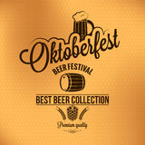 Oktoberfest vintage poster vector background Stock Photos
