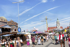 Oktoberfest visitors Stock Image