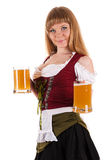 Oktoberfest waitress with a beer in hand Stock Photos