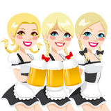 Oktoberfest Waitress Beer Toast Royalty Free Stock Image