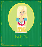 Oktoberfest waitress Royalty Free Stock Images