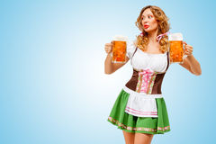 Oktoberfest waitress. Stock Image