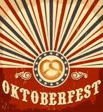 Oktoberfest-Weinlesefeier-Plakatdesign Stockfotografie