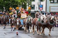 Oktoberfest Wrzesień 21, 2013 w Monachium Zdjęcie Royalty Free