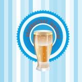 Oktoberfestaffiche met een glas bier Royalty-vrije Stock Foto's