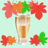 Oktoberfestaffiche met een glas bier Royalty-vrije Stock Afbeelding