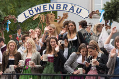 Oktoberfestparade Royalty-vrije Stock Foto's