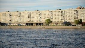 Oktyabrskaya Embankment in St.Petersburg. stock footage