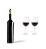 okularów butelek wina Obrazy Stock