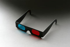 okulary 3 d film fotografia stock