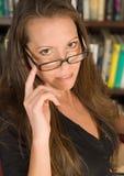 okulary bibliotekarz seksowna Obrazy Royalty Free