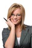okulary bizneswomanów młodych Obrazy Stock