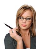 okulary bizneswomanów młodych Fotografia Royalty Free