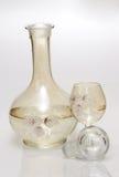 okulary butelki alkoholu Zdjęcia Stock