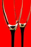 okulary czerwone tło Zdjęcie Stock
