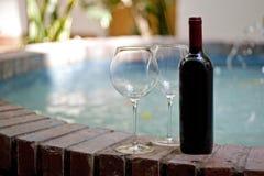 okulary czerwone wino zdjęcia royalty free