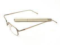 okulary długopis Obraz Stock
