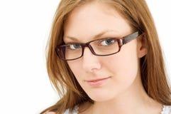 okulary dziewczyn zdjęcie stock
