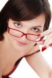 okulary dziewczyn obraz stock