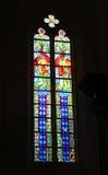 okulary kościoła oznaczony przez okno obrazy royalty free