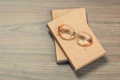 okulary ksi??kowi obraz stock