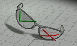 okulary nie tak Obraz Royalty Free