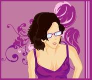 okulary płci żeńskiej Obrazy Royalty Free