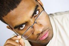 okulary przechylający zdjęcie royalty free