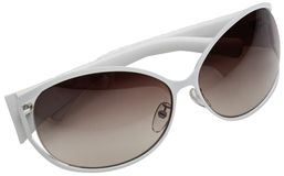 okulary przeciwsłoneczne białe Zdjęcie Stock
