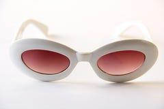 okulary przeciwsłoneczne białe Zdjęcia Royalty Free