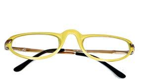 okulary przeciwsłoneczne kolor żółty Zdjęcie Stock