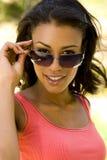 okulary przeciwsłoneczne target1223_0_ kobiety obrazy royalty free