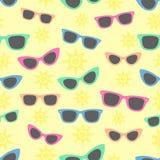 Okulary przeciwsłoneczni i słońce ilustracji
