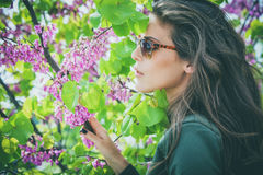 Okulary przeciwsłoneczni kobieta Zdjęcia Royalty Free