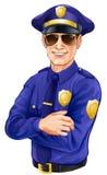 Okulary przeciwsłoneczni policjant ilustracji