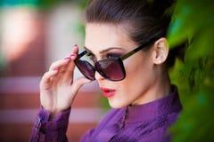 Okulary przeciwsłoneczni portret Zdjęcia Stock