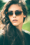 Okulary przeciwsłoneczni portret obrazy royalty free